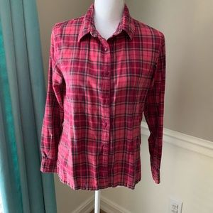 Cabelas womens small pink flannel shirt